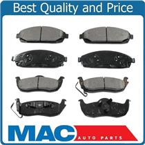 100% New Front & Rear Ceramic Brake Pads for Jeep Grand Cherokee Commander 05-10