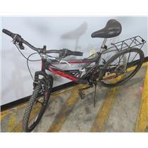 "Hyper Shocker Red / Black 18-Speed Dual Suspension 17"" Frame 26"" Tires Mens Bike"