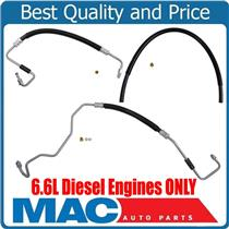 To Gear Pump To Hydro Power Steering Hoses for GMC 2500HD 6.6L Diesel 11-15