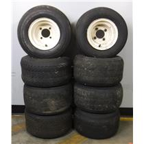 Lot of 8 Kenda Hole-N-One 4-Ply Nylon 18x8.50-8 Tubeless Tires with 4 Lug Rims