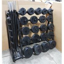Power Systems 74 Weights W/ Power Systems Weight Rack - LOCAL PICKUP ONLY