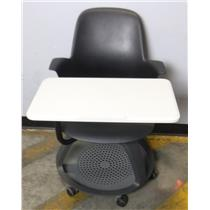 Steelcase 480120 Node Tripod Base High-Back Classroom Chair with Work Surface