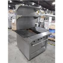 Garland M46R Master Series Natural Gas 2 Section EvenHeat Hot Top