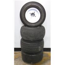 ***PICKUP ONLY*** Lot of 4 Nylon 18x8.50-8 Tubeless Golf Cart Tires W/4 Lug Rims