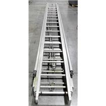 Alco Lite 50' Aluminum 3 Section Fire Ladder W Stay Poles