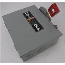GE General Electric TH3361 Heavy Duty Safety Switch 600V 30 Amp 3 Pole