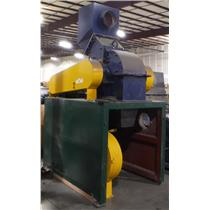 Hammer Mill Rock Stone Glass Material Crusher With Matching Conveyor