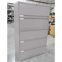 ***LOCAL PICK-UP ONLY*** Ki Brand Mauve Five Drawer Metal Filing Cabinet