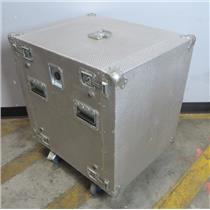 """Quantum Scientific 28""""x23""""x31"""" Portable 19"""" Equipment Rack Case 12U W/ Casters"""