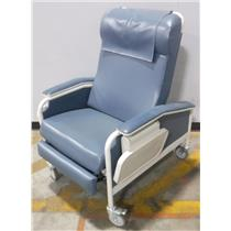 Winco 654 Reclining Hospital Chair Blue - WORKING