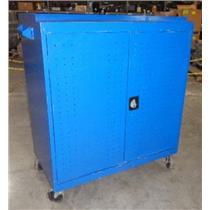 Sandusky MLS5248-BLU Blue Metal Adjustable Seven Shelf Tool Cabinet W/ Key