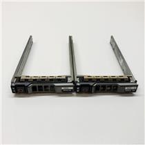 """Lot of 2 Dell 2.5"""" SAS SATA TRAY CADDY G176J KG7NR R820 R720 R620 R520 R320"""