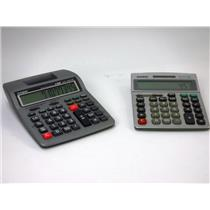 Lot of 2 Casio Calculators Models DM-1200TEV and HR-100TM Desktop