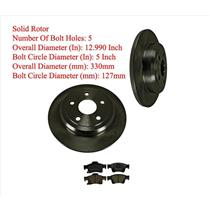 SOLID Rear Disc Brake Rotors & Pads 330mm Fits For GRAND CHEROKEE 11-18