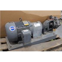 Baldor M3663T 3-Phase Industrial Electric Motor W/ Crane/Deming DC-847981 Pump