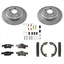 SOLID Rear Disc Brake Rotors & Pads 330mm 5pc Fits For GRAND CHEROKEE 11-18
