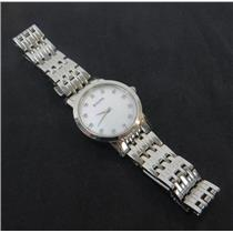 Bulova 96P175 Diamond Accented Mother Of Pearl Dial Womens Watch W/ Steel Band