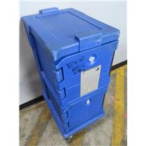 """Cambro Double Compartment Blue Insulated Food Service Cart - 18""""L x 26""""W x 45""""H"""