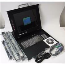 "New StarTech Rackons1501 1U 15"" Rackmount LCD Console W/ Keyboard USB + PS/2"