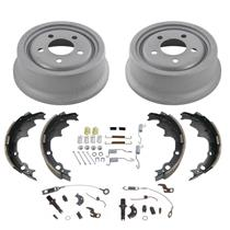 (2) 9 Inch Only Rear Brake Drums & Rear Shoes for Jeep Cherokee 6pc 1990-2001