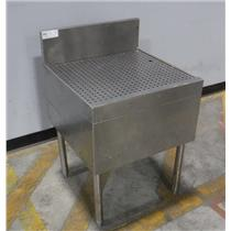 "GlasTender DBB-24 24"" Underbar Drainboard Stainless Steel - WORKING"