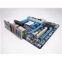 Gigabyte GA-A75M-UD2H Socket FM1 Desktop Motherboard DDR3 w/ I/O Shield Tested