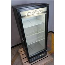 True GDM-12 Commercial Glass Door Black Refrigerator Merchandiser - 115V 12CU FT
