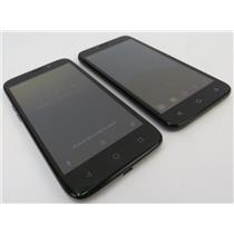 Dealer Lot Of 2 Android Smartphones Alcatel Tetra / ZTE Maven 3 - AT&T