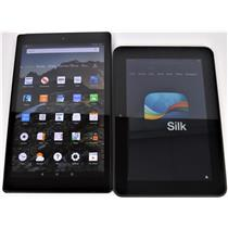 Lot of 2 Kindles 1x Kindle Fire HD 10 (7Th Gen) 1x Kindle Fire TESTED & WORKING