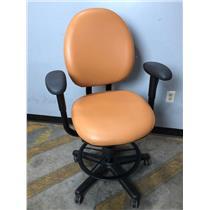 Steelcase 4537331DSW Orange Adjustable Office Chair Stool w Footrest