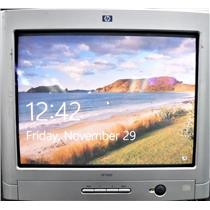 """HP 7650 V7650 HSTND-1L03-T Flat 17"""" CRT Monitor 1600x1200 TESTED AND WORKING"""