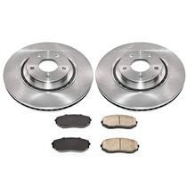 (2) FRONT Brake Rotors & Ceramic Pads All New for Mazda CX-9 16-19 2.5L Turbo