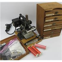 VINTAGE Kingsley Model M-101 Hot Foil Stamping Machine & Extras -SEE DESCRIPTION