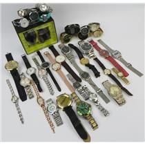 Lot Of 35 Assorted Brands Mixed Watches Mens Women Kids - Working & Non Working