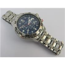 Nautica N19509G Men's Stainless Steel NST Chronograph Watch W/ Blue Dial