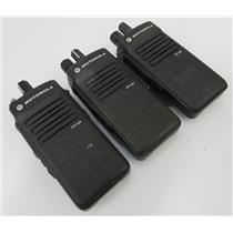 Lot Of 3 Motorola XPR 3300 AAH02RDC9JA2AN 403-512 MHz Two-Way Radios - UNTESTED