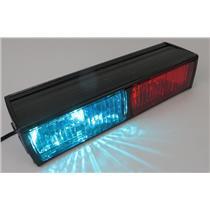 Code 3 Dual Halogen 12-Volt Vehicle Deck / Dash Light - RED / BLUE - WORKING