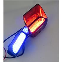 Lot Of 2 Whelen Single Avenger 12-Volt Super-LED Lights - One RED / One BLUE