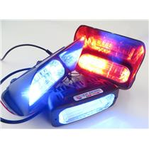 Lot Of 3 Whelen Avenger Series 12-Volt Super-LED Lights - RED / BLUE Flashing