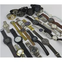 Lot Of 27 Assorted Brands Mixed Watches Mens Women Kids - Working & Non Working