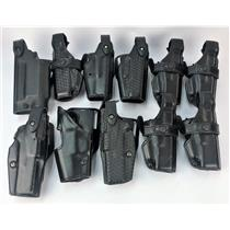Lot of 11 Assorted Safariland Gun Holsters Fits Glocks TESTED & WORKING