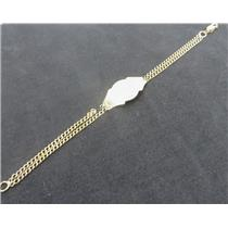 14k Yellow Gold Small ID Bracelet W/ BROKEN CHAIN - 6.76 Grams Total Weight