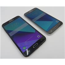 Dealer Lot Of 2 Samsung Android Phones Galaxy J7 Prime & J3 Prime - Metro PCS