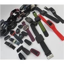Large Lot Of Fitness Activity Trackers - Pebble - FitBit - Garmin & More