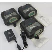 Lot Of 3 Zebra RW 420 Mobile Thermal Printers R4D-0UBA000N-10 - SEE DESCRIPTION