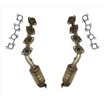 03-04 4 Runner GX470 L & R Front Manifold Catalytic Converter W Gaskets 18236 35