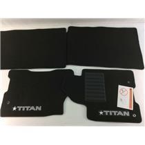 2009-15 TITAN CREW CAB BLACK FLOOR MATS FRONT AND REAR