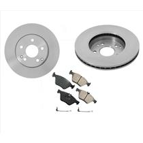 (2) Front Brake Rotors & Pads & Sensor fits for 1999-2000 Mercedes C230