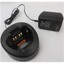Motorola NTN8831A Two-Way Radio Tri-Chem Charger Base W/ Power Supply - WORKING