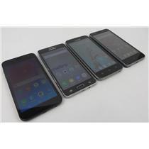 Dealer Lot Of 4 Android Smartphones - Samsung - Coolpad - ZTE - Metro PCS
